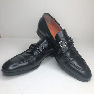 Santoni Indra Black Bit Loafers, 16535